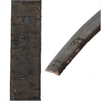 Final Sale - Flat Portuguese Cork Cord by Regaliz, 10x1.5mm, by the Inch, Black