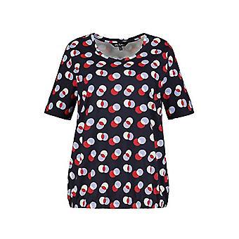 ULLA POPKEN T-Shirt mit Allover Druck, Mittelgrau Melange, 58+ Women's