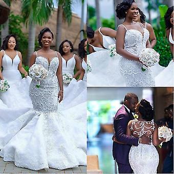فستان زفاف حورية البحر الأفريقية