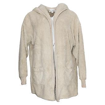 Koolabrra By UGG Women's Sweater Cozy Shaggy Cardigan Beige A386142