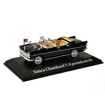 Simca Chambord V8 (Charles de Gaulle-1961) Diecast modell bil