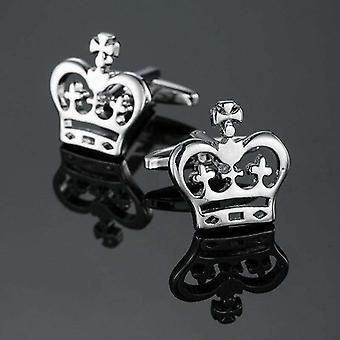 Silver Crown Royal teemalla puku teräs miesten ranneke linkit