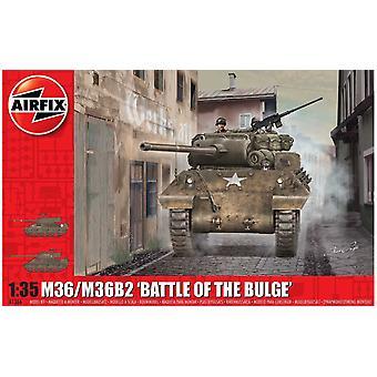 """M36/M36B2 """"Battle of the Bulge"""" 1:35 Tank Air Fix Model Kit"""