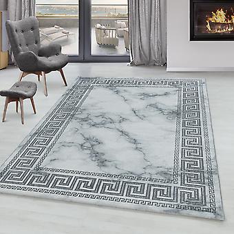 Living room carpet OXIA short pile design marble pattern antique