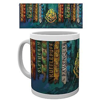 Harry Potter House Flags Mug