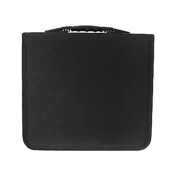 320 Discs Portable Cd Dvd Wallet Holder Bag Case Album Organizer Media Storage Box(black)