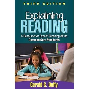 Explaining Reading by Duffy & Gerald G. Michigan State University & USA
