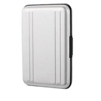 8SD+8TF Card box multi-use aluminum memory card travel storage box(White)