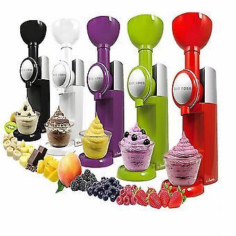 Ice Cream Maker Bpa Free Dishwasher Fruit Soft Serve Maker Make Delicious(Red)