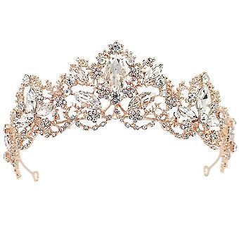 Coroa de Cabelo de Noiva de Casamento Tiaras Rhinestone
