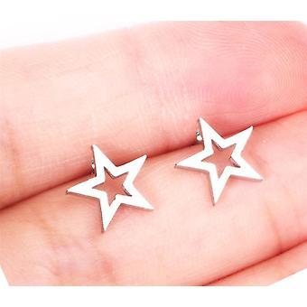 Asonsteel tyttö korvakorut tähti / rakkaus kirje / hymy / lumihiutale / pöllö / kukka / pyöreä ruostumattomasta teräksestä nasta korvakoru naisille päivittäin kuluminen