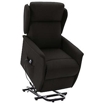 vidaXL reclining chair with see-up aid Black fabric