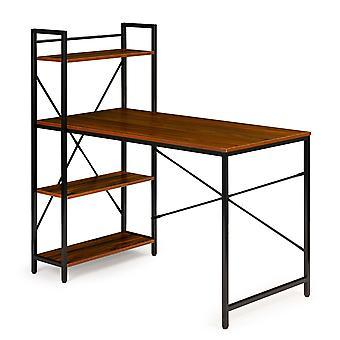 Pöytäpöytä kirjahyllyllä - ruskea - 120 x 60 x 120 cm