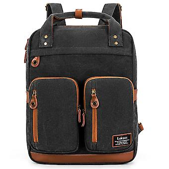 15.6 Inch Durable Student Laptop Backpack Water Resistant Travel College Bag-grey