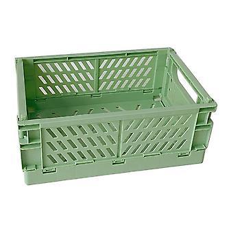 מתקפל ארגז קיפול פלסטיק תיבת אחסון סל השירות קוסמטיקה מיכל שולחן עבודה מחזיק הביתה