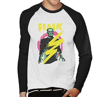 Frankenstein Frank Electric Shock Men's Baseball Long Sleeved T-Shirt