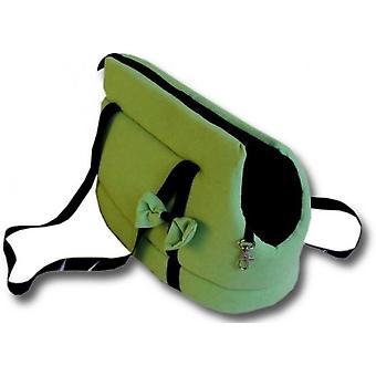Hondendraagtas - kleine honden - honden transporttas - groen - 36x19x23 cm - stijlvol - schoudertas