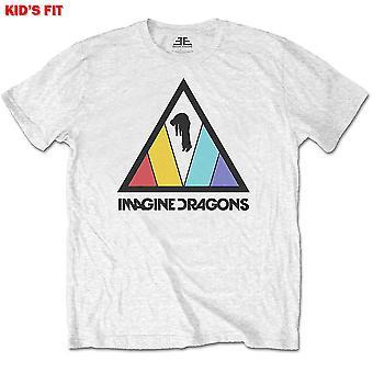 Imagine Dragons - Triangle Logo Kids 11 - 12 Years T-Shirt - White
