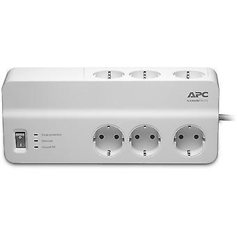 APC SurgeArrest Essential, grenuttag med 6xCEE 7/4 uttag, vit