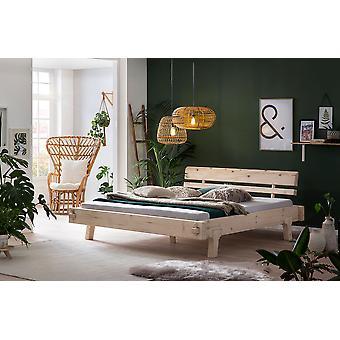 Bed Frame - Platform - Beds - Modern  Natural  Solid  184 cm x 224 cm x 78 cm