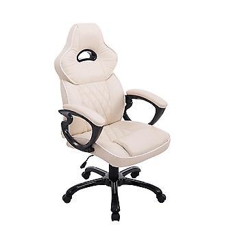 Silla de oficina - Silla de escritorio - Oficina en casa - Moderna - Beige - 66 cm x 72 cm x 114 cm