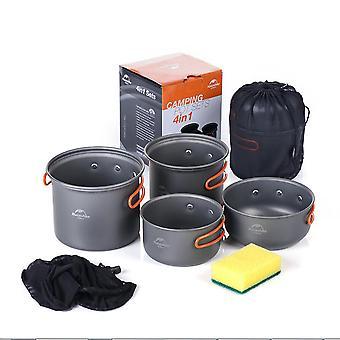 Mimigo Camping Cookware Mess Kit Terug Verpakking Gear & Hiking Outdoors Bug Out Bag Cooking Equipment Cookset | Lichtgewicht, compacte, duurzame pot pan boog