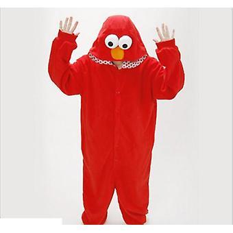 SesamStraße Cookie Monster blau rot Kostüm Pyjamas