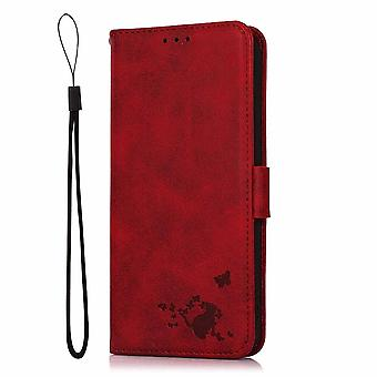Case For Iphone Se 2020 Wallet Flip Pu Leather Cover Card Holder Coque Etui - Red Yellow