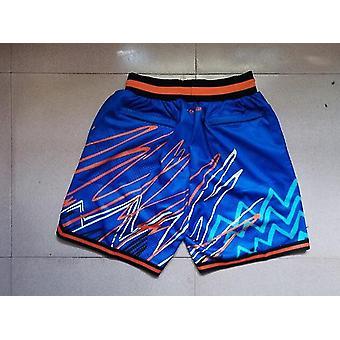 Men's Sports Shorts New York Knicks Just Don Blue Lightning Pocket Basketball Short Outdoor Sport Sandbeach Pants Size S-xxl