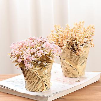 קראפט נייר מזויף פרח בונסאי סימולציה חדר קישוט קישוט פרח עציצים