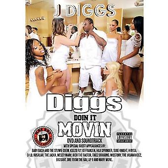 J-Diggs - Diggs Doin It Movin [DVD] USA import