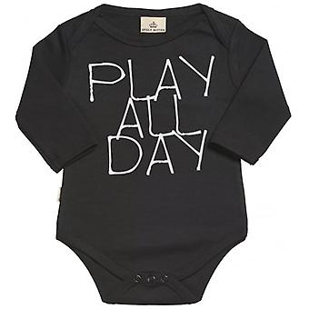 Spoilt Rotten Play All Night Long SleeveOrganic Baby Grow