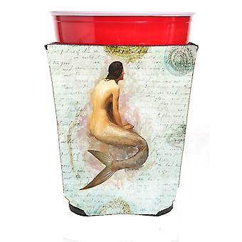 Carolines Treasures  SB3045RSC Mermaids and Mermen  Red Solo Cup Beverage Insula