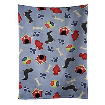 Carolines skarby BB3882KTWL jamnik Dog House kolekcja Ręcznik kuchenny