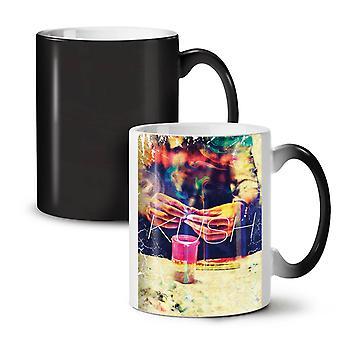 Crumble Kush Smoke NEW Black Colour Changing Tea Coffee Ceramic Mug 11 oz | Wellcoda