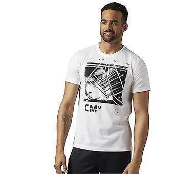 リーボックの t シャツ Speedwick ブレンド Grp BQ3496 普遍的なすべての年の男性 t シャツ