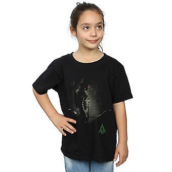 DC Comics Girls Pfeil mit Kapuze Fokus T-Shirt