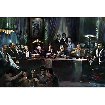 Gangsters Last Supper Poster Print