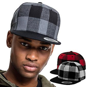 Flexfit CHECKED FLANNEL lumberjack Snapback Cap