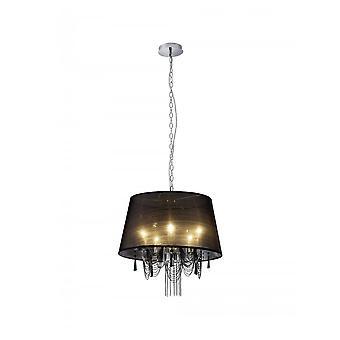 Trio d'éclairage moderne Chiara Chrome lustre métallique