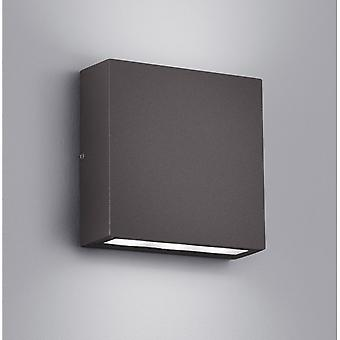 Trio Lighting Thames Modern Anthracite Diecast Aluminium Wall Lamp