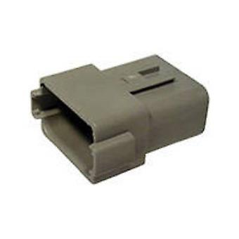 TE Connectivity DT04-12PA Bullet connector Plug, straight Series (connectors): DT Total number of pins: 12 1 pc(s)