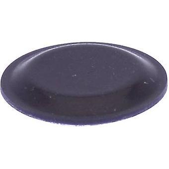TOOLCRAFT PD2191SW picior autoadezive, circular negru (Ø x H) 19 mm x 1,9 mm 1 buc (e)