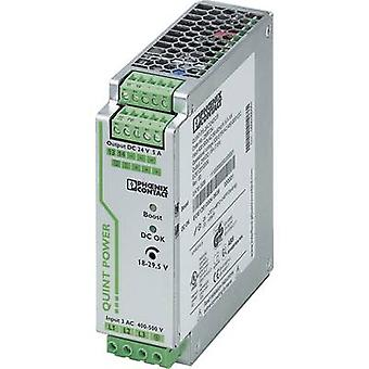 فينيكس الاتصال QUINT-PS/3AC/24DC/5 السكك الحديدية التي شنت PSU (DIN) 24 V DC 5 A 120 W 1 x