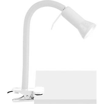 Brilliant Antony Clip lamp Energy-saving bulb E14 40 W White