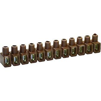 Kaiser 610/br Screw terminal flexible: 4-10 mm² rigid: 4-10 mm² Number of pins: 12 1 pc(s) Brown