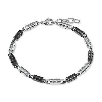 s.Oliver juvel mens armband rostfritt stål bicolor 2022620