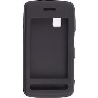 Wireless Solutions Silicon Gel Case for LG CU915, CU920 (Black)