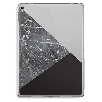 iPad Pro 9,7 tommers gjennomsiktig sak (myk) - marmor kombinasjon