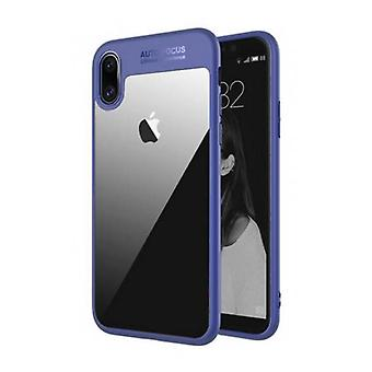 Stuff Certified ® iPhone X - Auto Focus Armor Case Cover Cas Silicone TPU Case Blue